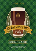 St. Patrick's Day Beer Festival. - Illustration