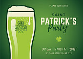 St. Patrick's Day Beer Party - Illustration