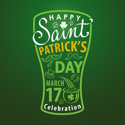 St. Patrick's Day Beer Typography