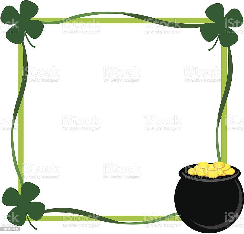 St Patricks Day Border Shamrocks Stock Image - Image: 8429311 |St Patricks Border