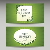 St Patrick's day card design, vector banner illustration