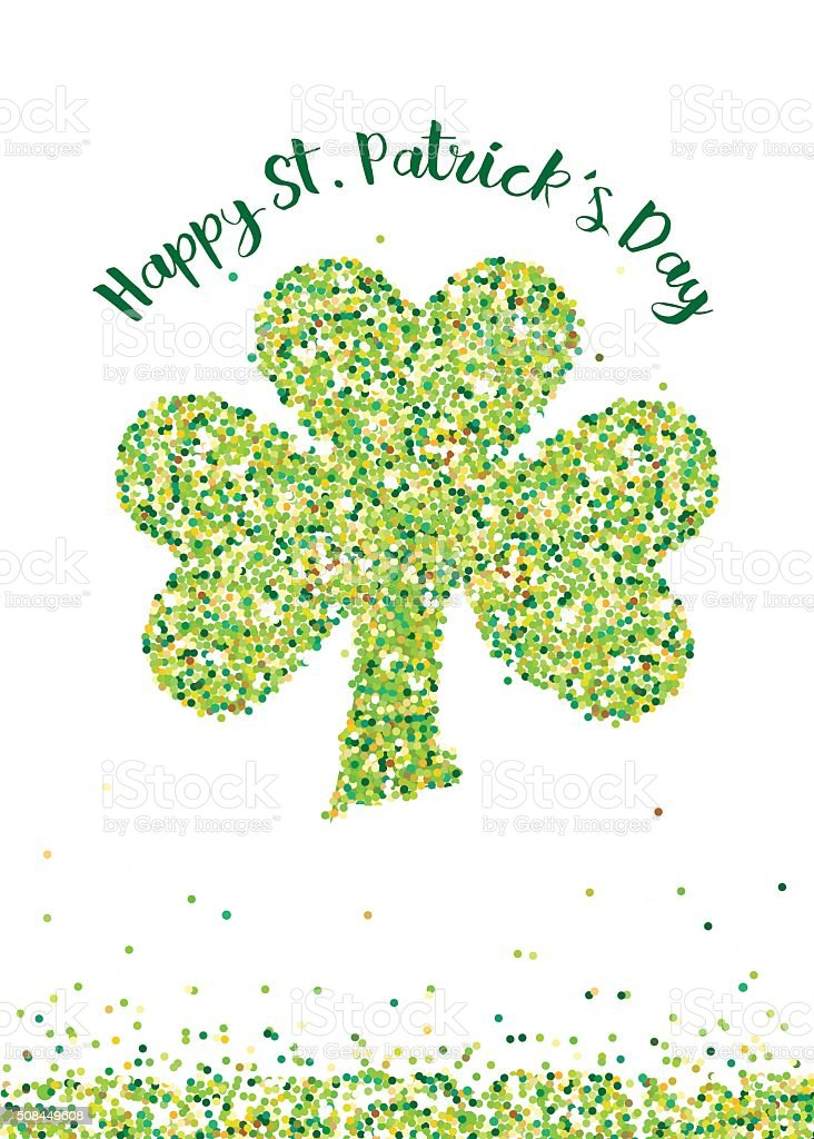 St patricks day card template with confetti shamrock vector stock st patricks day card template with confetti shamrock vector royalty free st patricks m4hsunfo