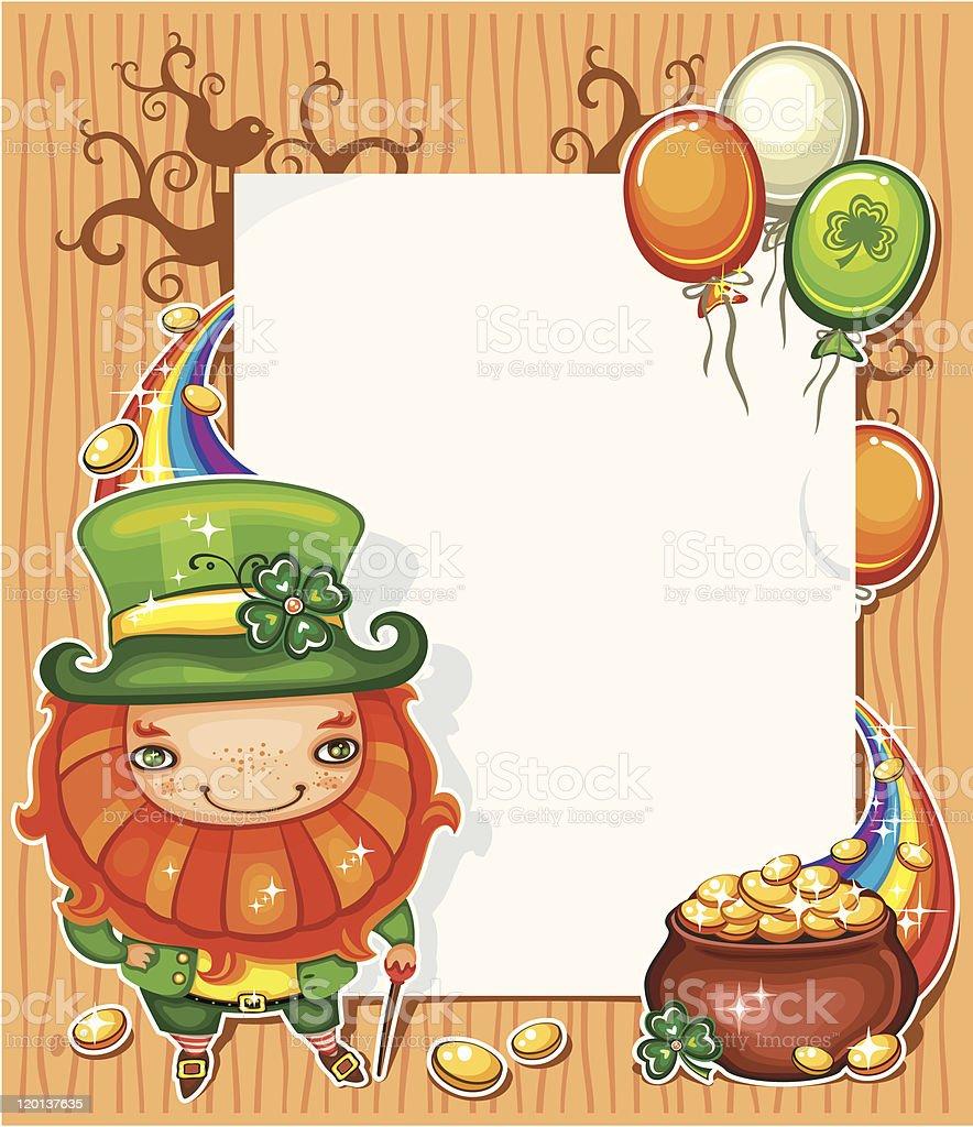 St Patrick's Day cartoon frame royalty-free stock vector art