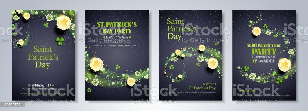 Saint Patrick Day Celebration Flyer saint patrick day celebration flyer vecteurs libres de droits et plus d'images vectorielles de abstrait libre de droits