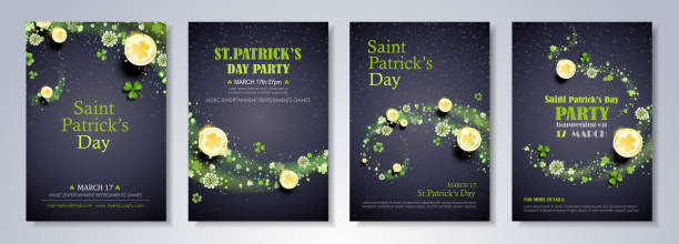 St. Patrick's Day Celebration Flyer vector art illustration