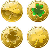Clover coins for St Patrick's Day.