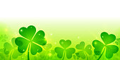 St Patrick's Day Clover Shamrock Background
