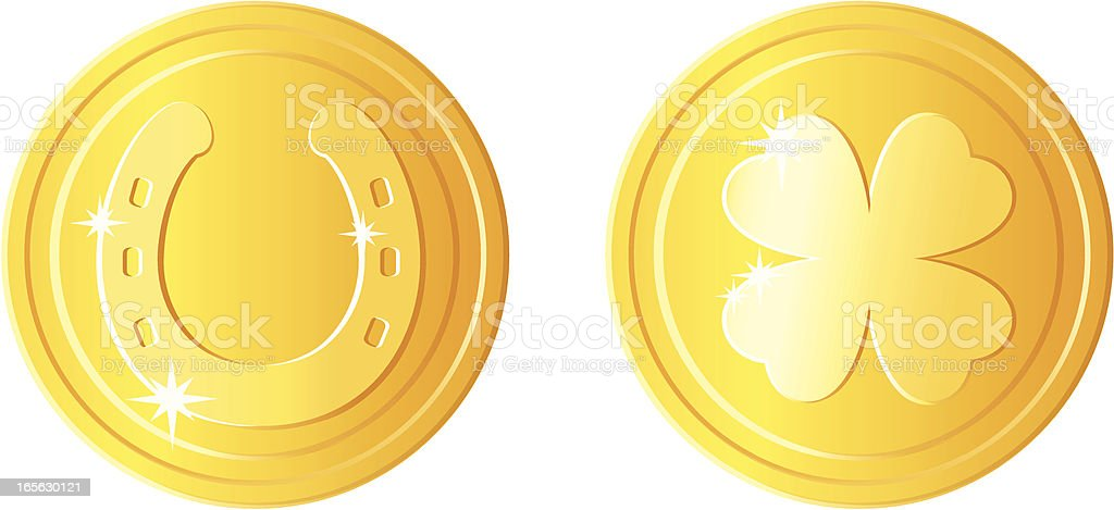 St Patricks day coins royalty-free stock vector art