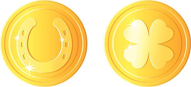 St Patricks day coins vector art illustration