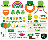 St. Patricks Day decoration and photo booth props