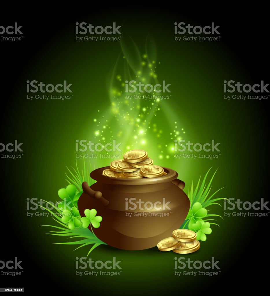 St. Patrick's Day design element royalty-free stock vector art