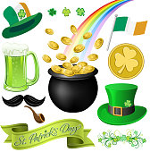 St Patrick's Day elements. EPS10.