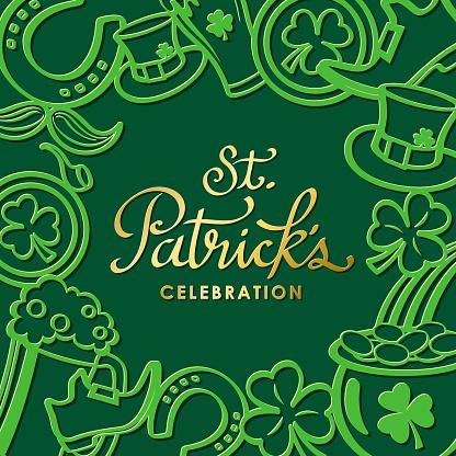 St Patrick's Day Element Frame