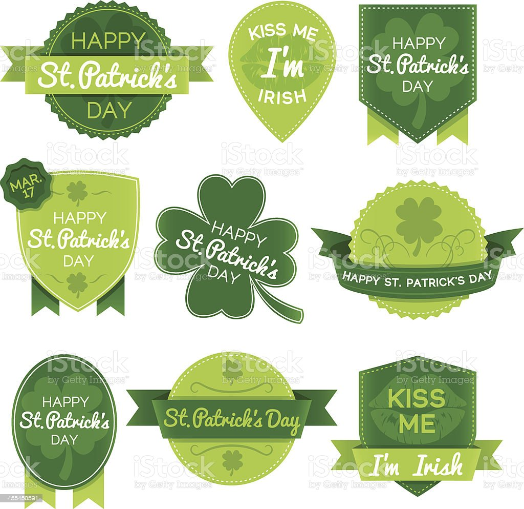 St. Patricks Day Elements vector art illustration