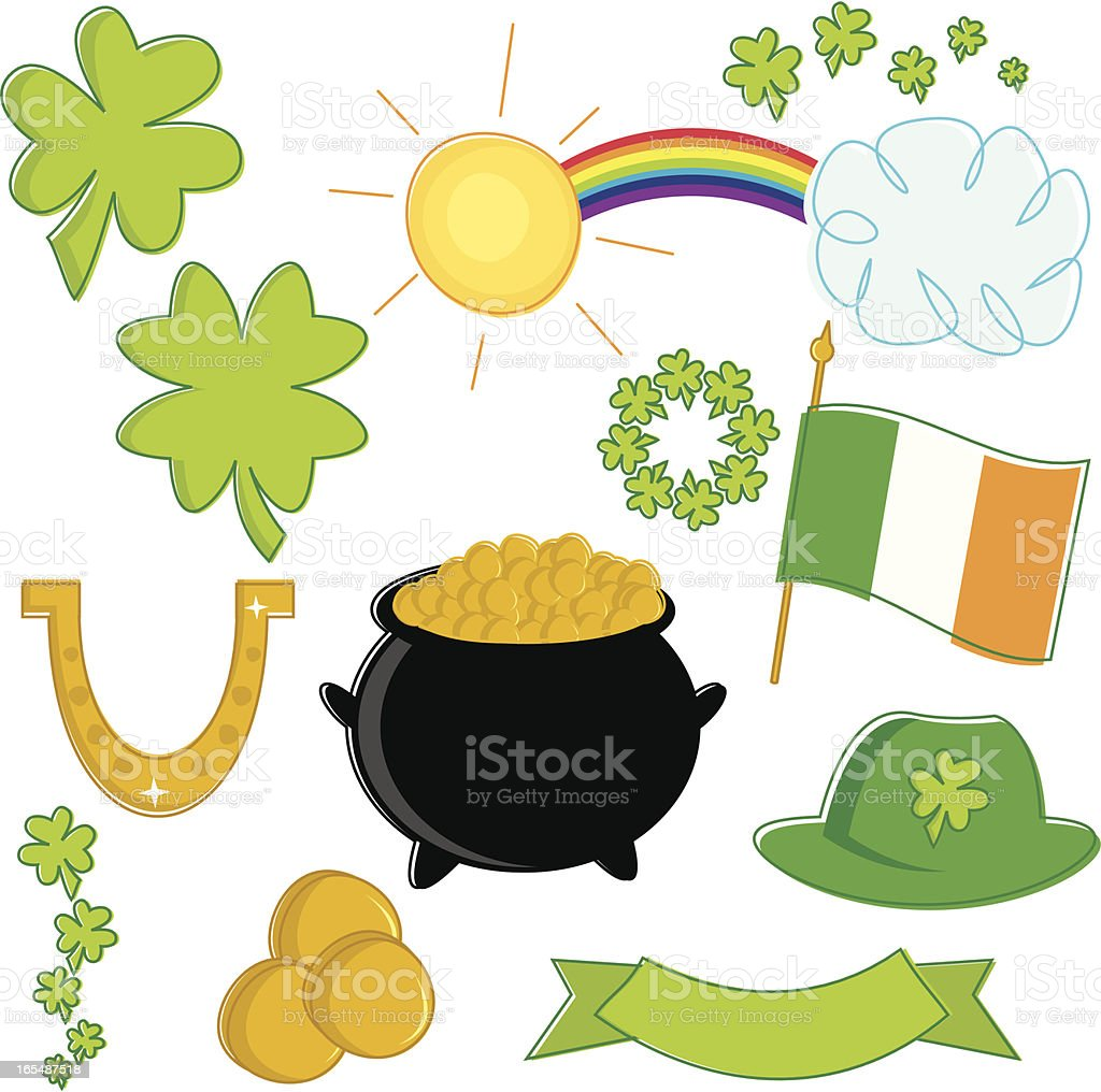 St. Patrick's Day Essentials royalty-free stock vector art
