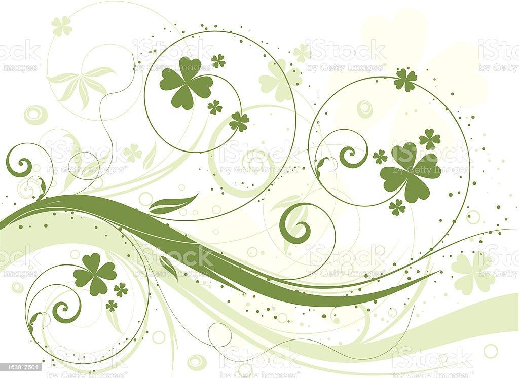 St. Patricks Day floral design royalty-free stock vector art