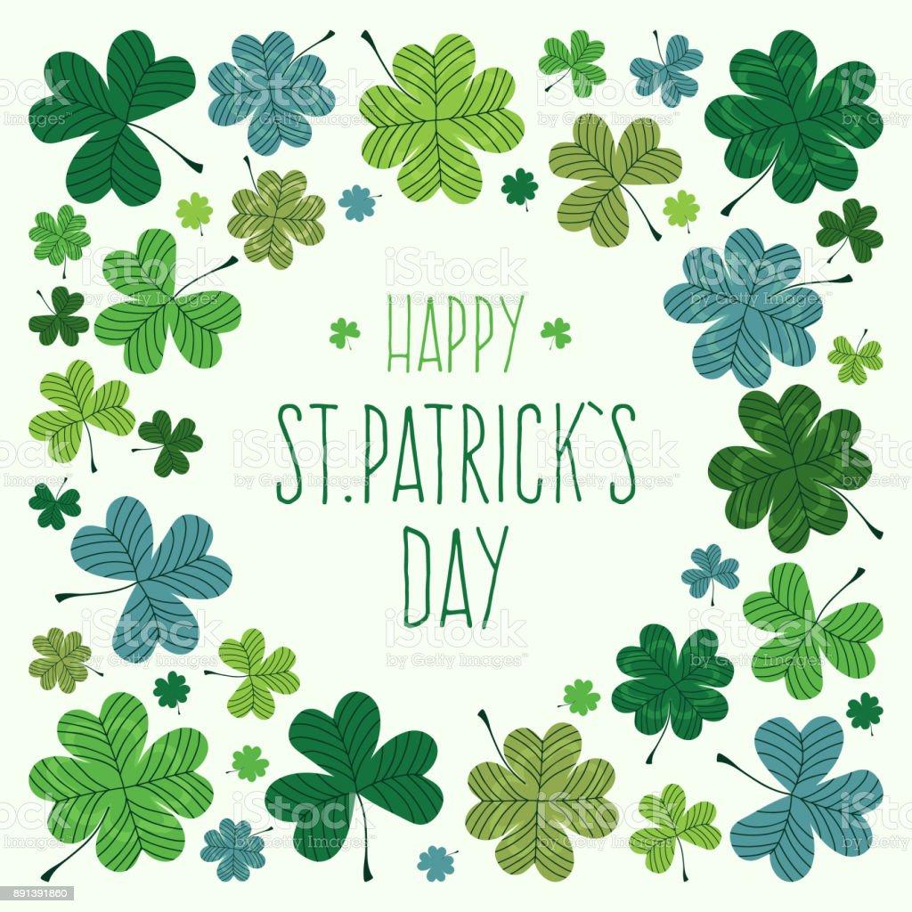St. Patrick's Day Greeting Card vector art illustration
