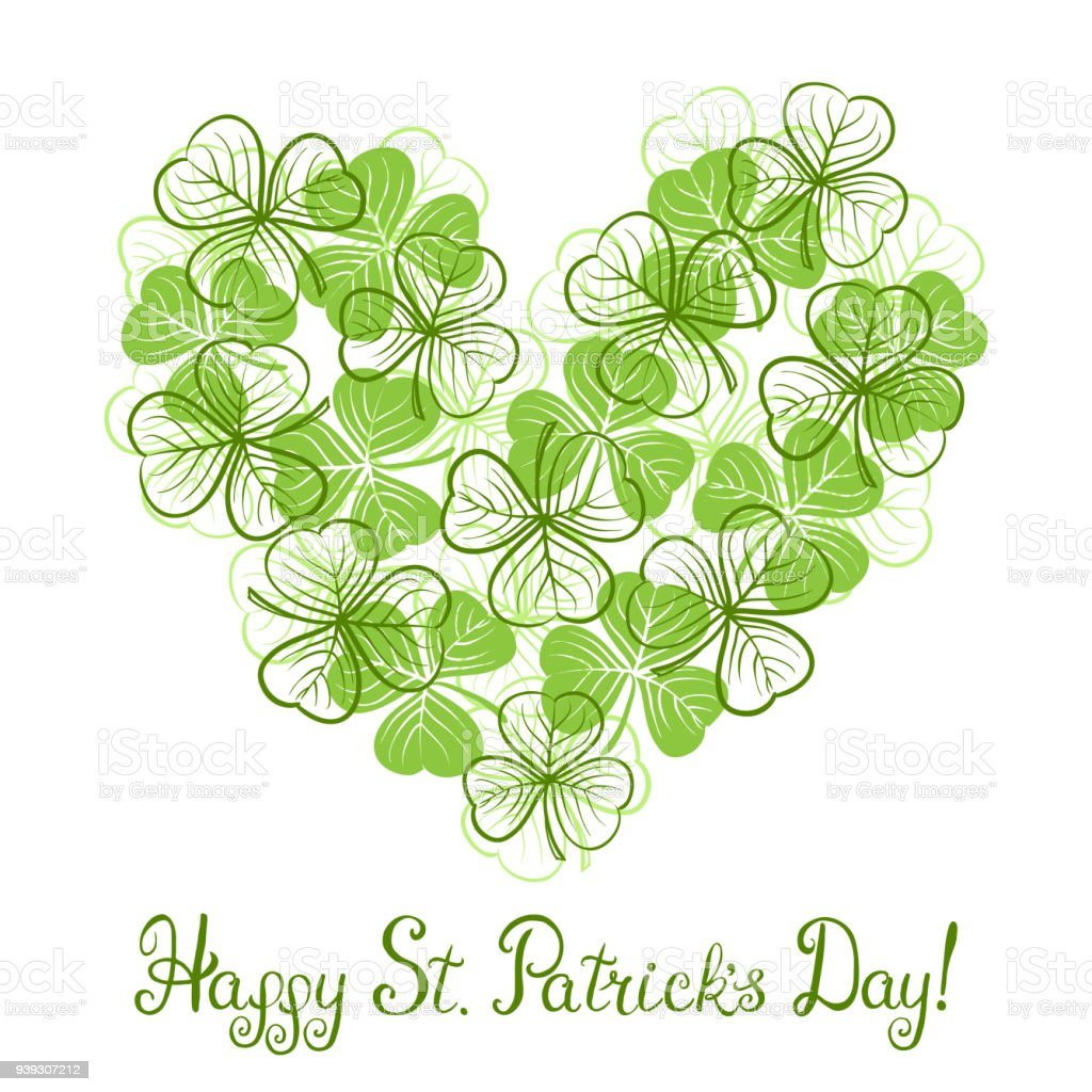 St Patricks Day Greeting Card Stock Vector Art More Images Of
