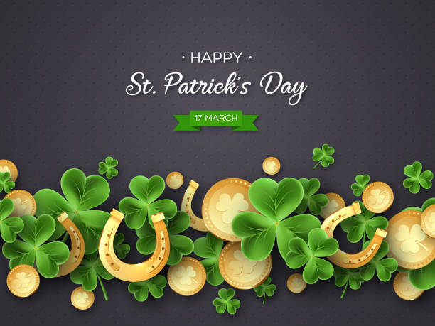 St. Patricks Day Gruß Ferien-Design. – Vektorgrafik