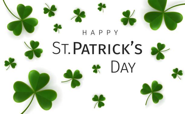 St. Patricks Day greetings card vector art illustration