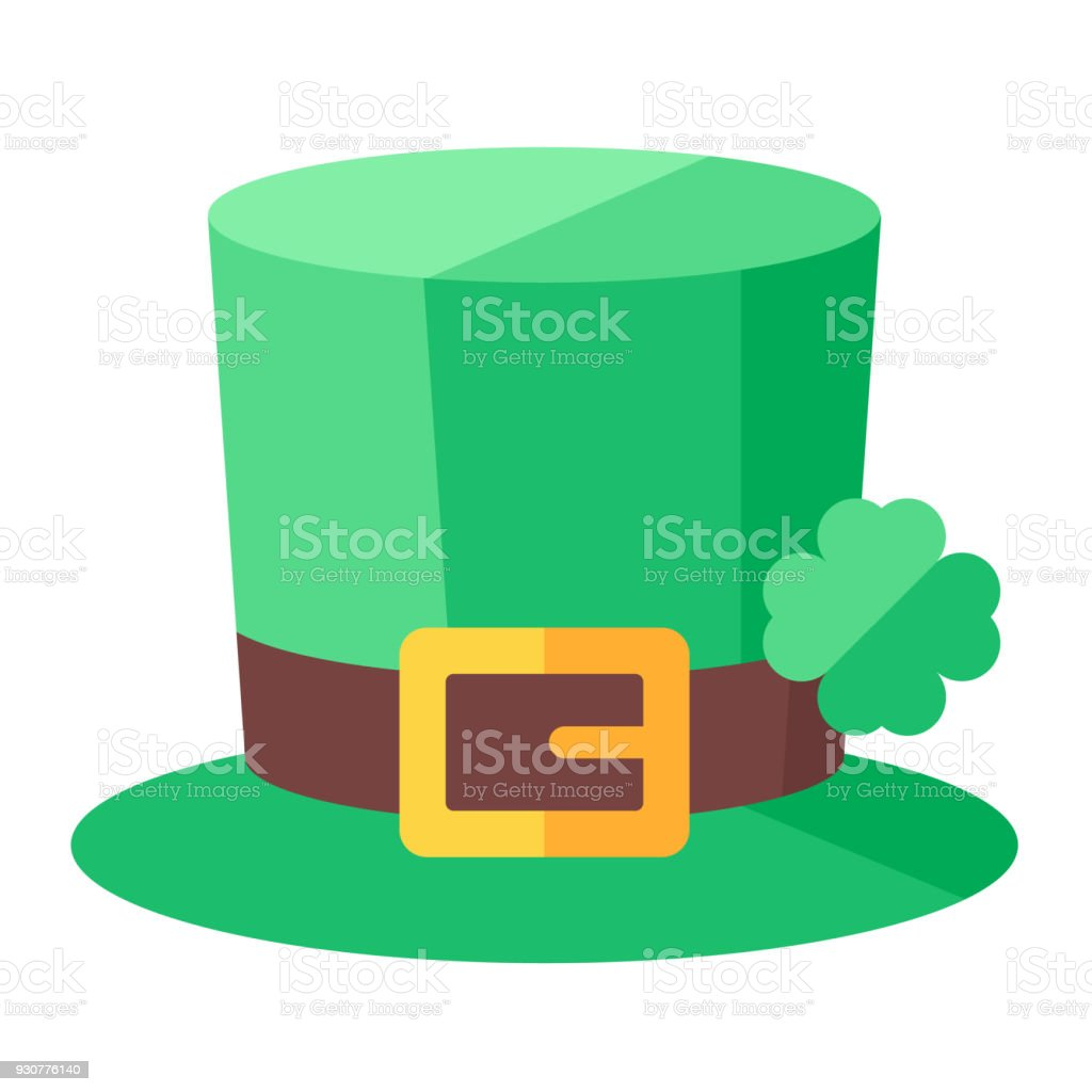 St. Patrick's Day hat with clover.