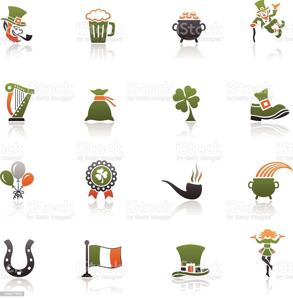 St. Patrick's Day Icon Set vector art illustration