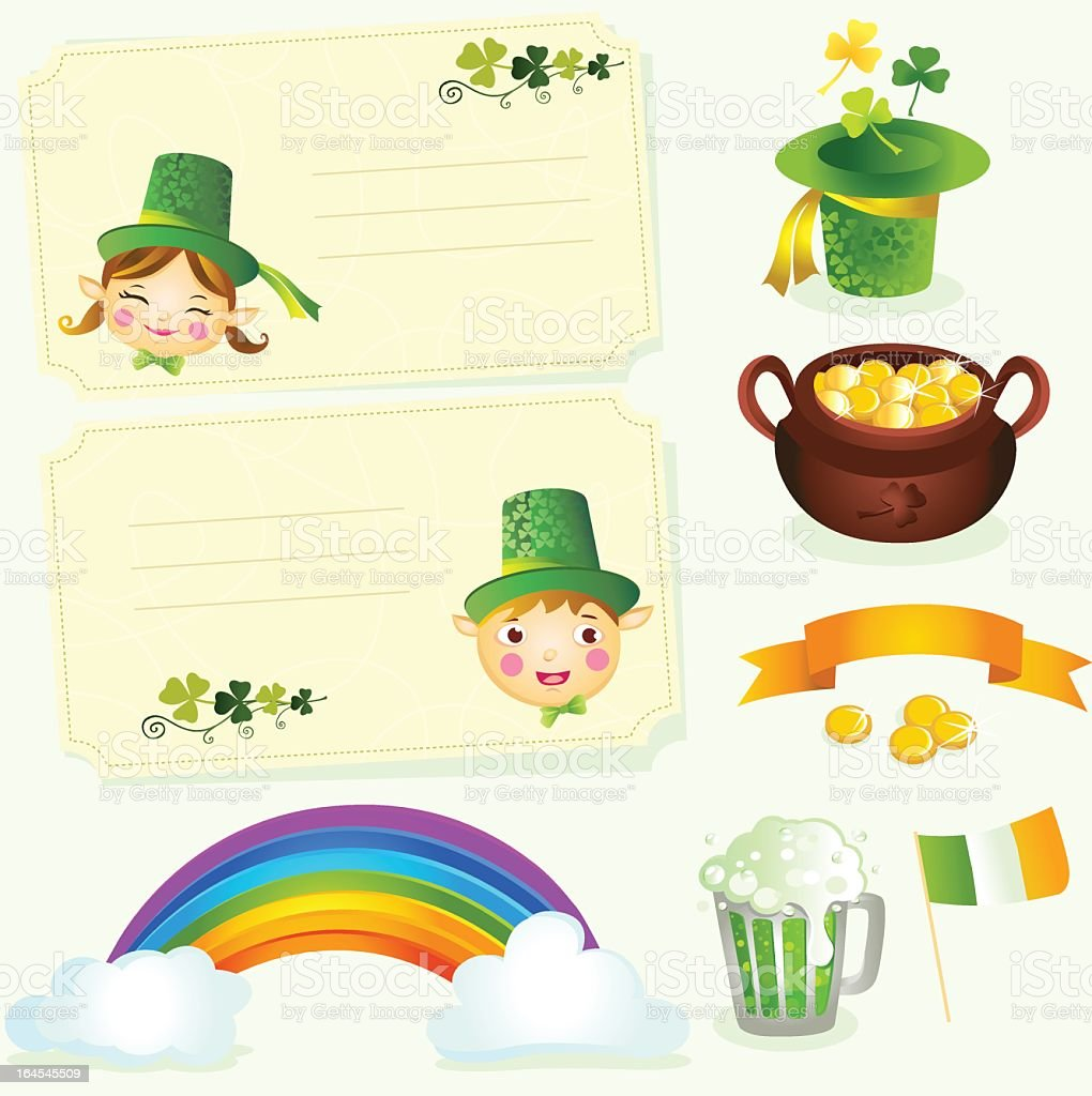 St. Patrick's Day Icons royalty-free stock vector art