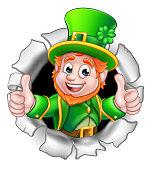St Patricks Day Leprechaun Breaking Background