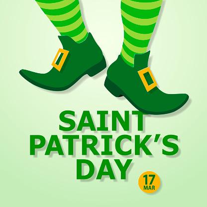 St Patrick's Day Leprechaun Feet