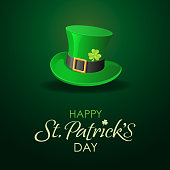 An invitation card with leprechaun hat inviting you to join the party in St. Patrick's Day