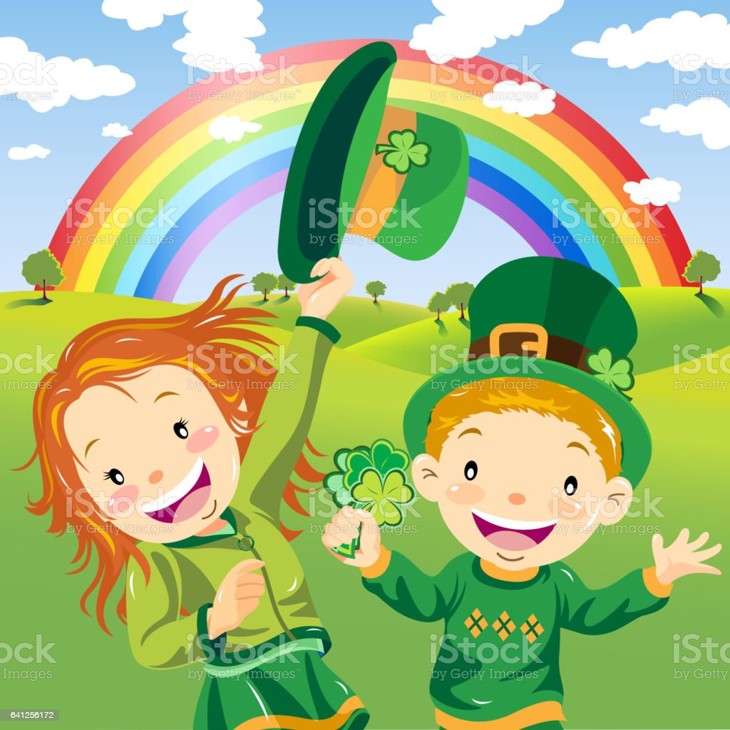 st patricks day leprechaun kids stock vector art 641256172 istock