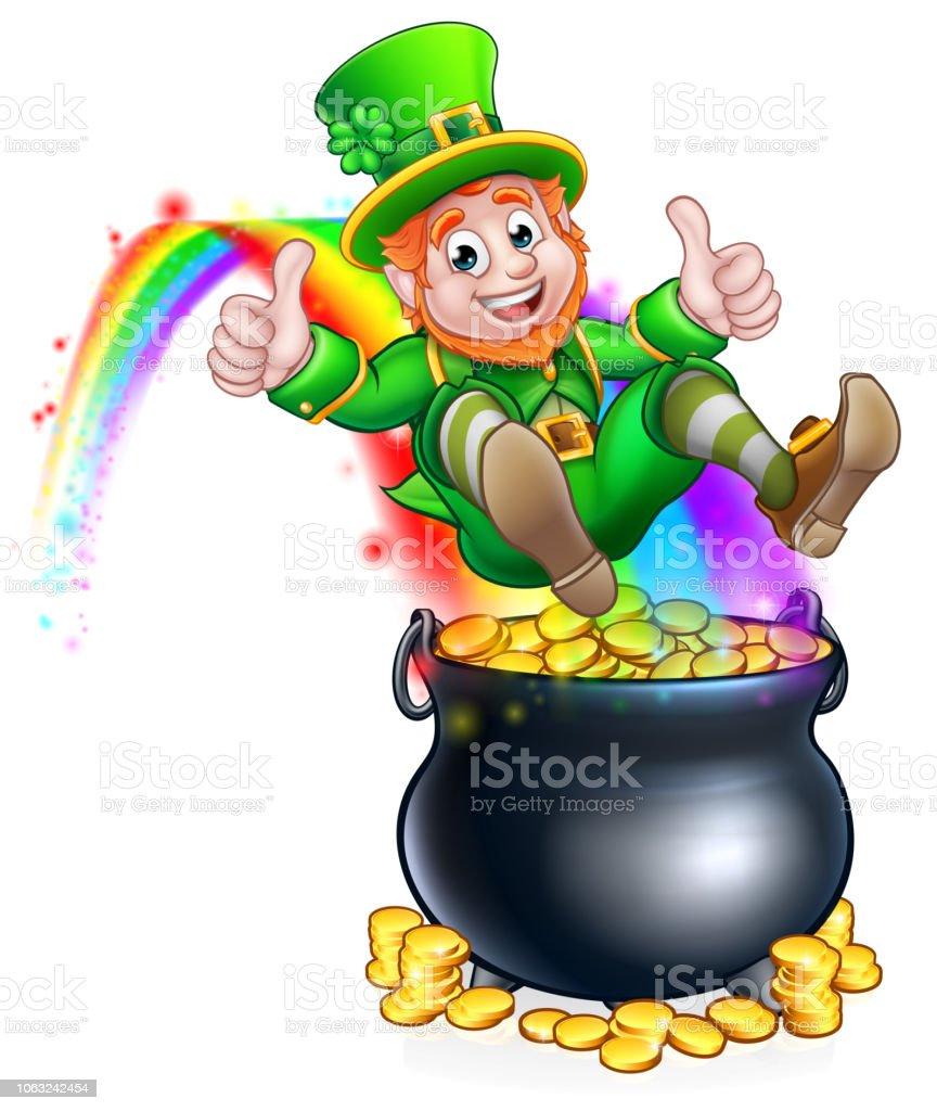 Irland Leprechaun Regenbogen