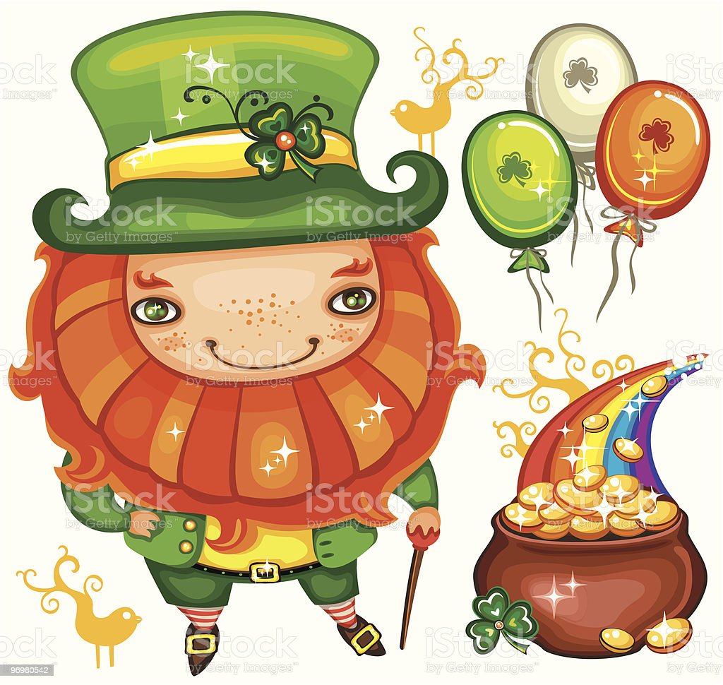 St. Patrick's Day  leprechaun series 1 royalty-free st patricks day leprechaun series 1 stock vector art & more images of adult
