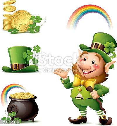 istock St Patrick's Day - Leprechaun set 506165114