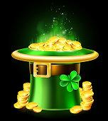 St Patricks Day Leprechaun Shamrock Hat of Gold