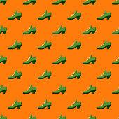 St. Patrick's Day Leprechaun Shoe Seamless Pattern