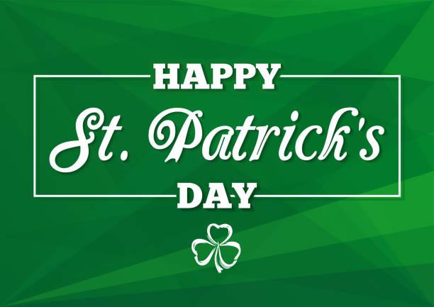 St. Patricks Day Schriftzug Karte – Vektorgrafik