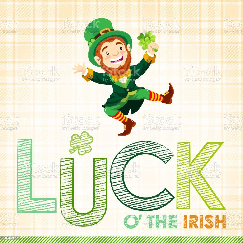 St. Patrick's Day Luck O'the Irish vector art illustration