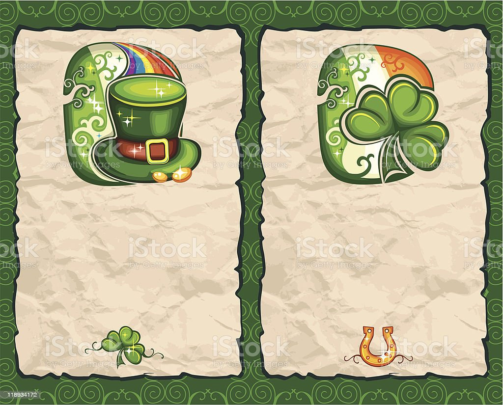 St. Patrick's Day paper backgrounds series 1 royalty-free st patricks day paper backgrounds series 1 stock vector art & more images of backgrounds