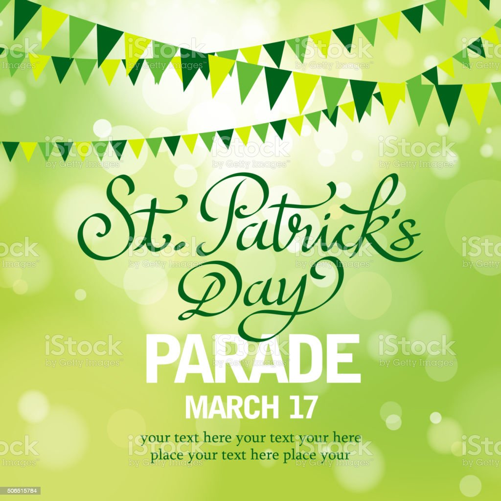 St patrick's day parade vector art illustration