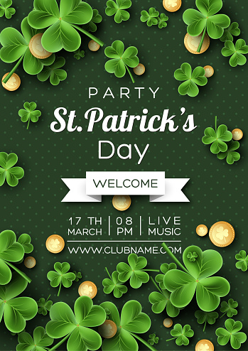 St. Patrick's Day party poster.