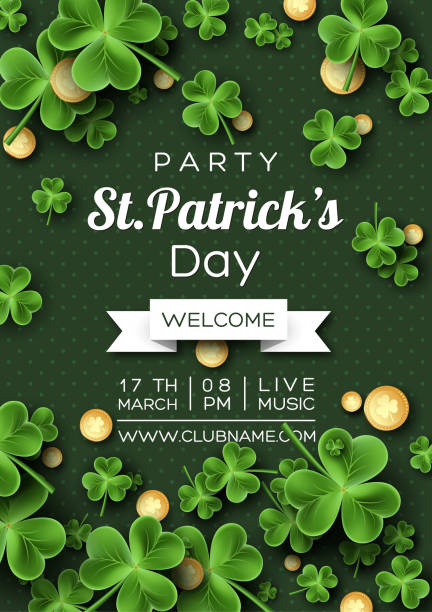 St. Patrick's Day party poster. vector art illustration