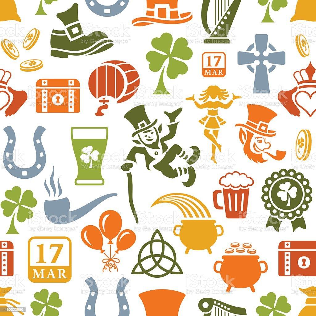 St. Patrick's Day Pattern vector art illustration
