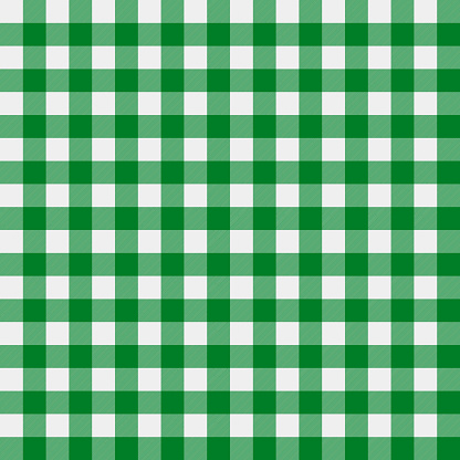 St. Patrick's day plaid seamless pattern. Green white tartan background.  Saint Patricks backdrop. Vector template for fabric, textile, wallpaper, wrapping paper, etc.