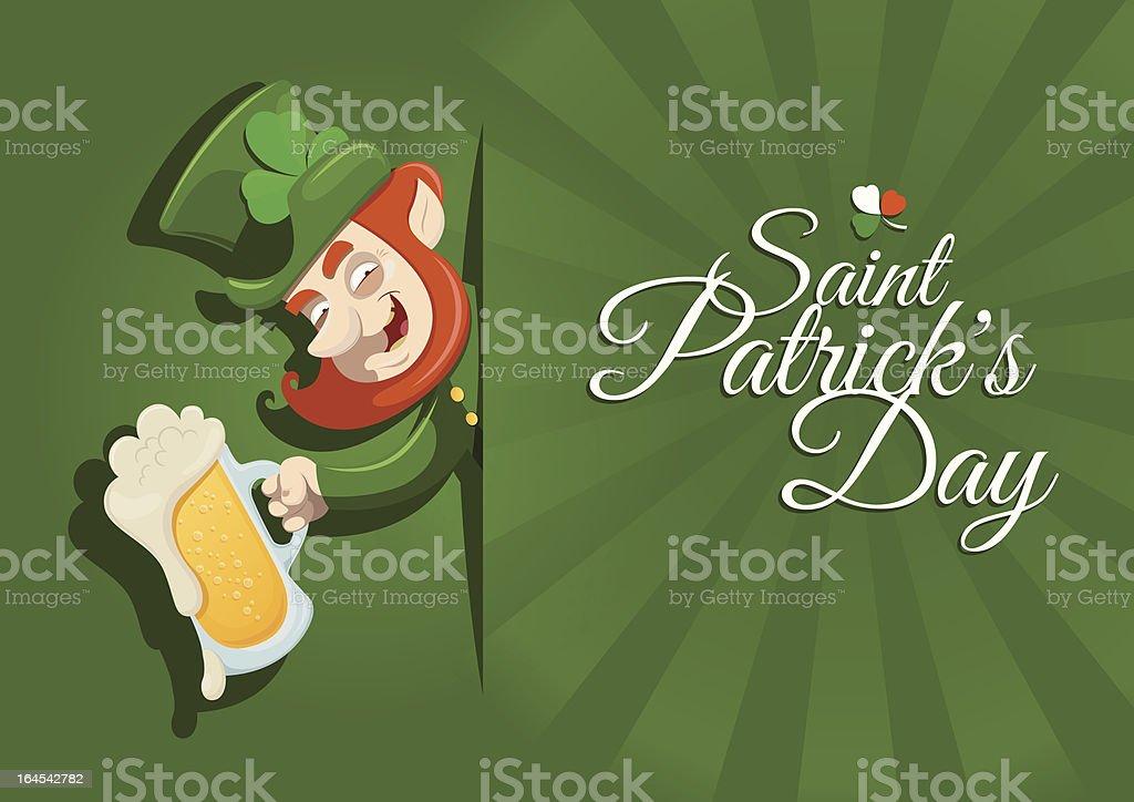 St. Patrick's Day postcard vector art illustration