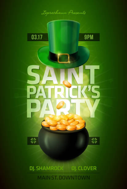 St. Patrick's Day Poster vector art illustration