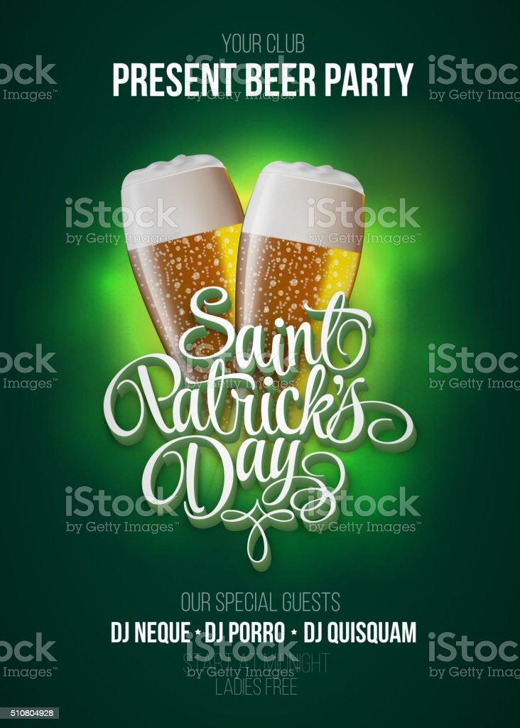 St. Patrick's Day poster. vector art illustration