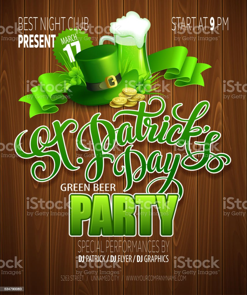 St. Patrick's Day poster. Vector illustration vector art illustration