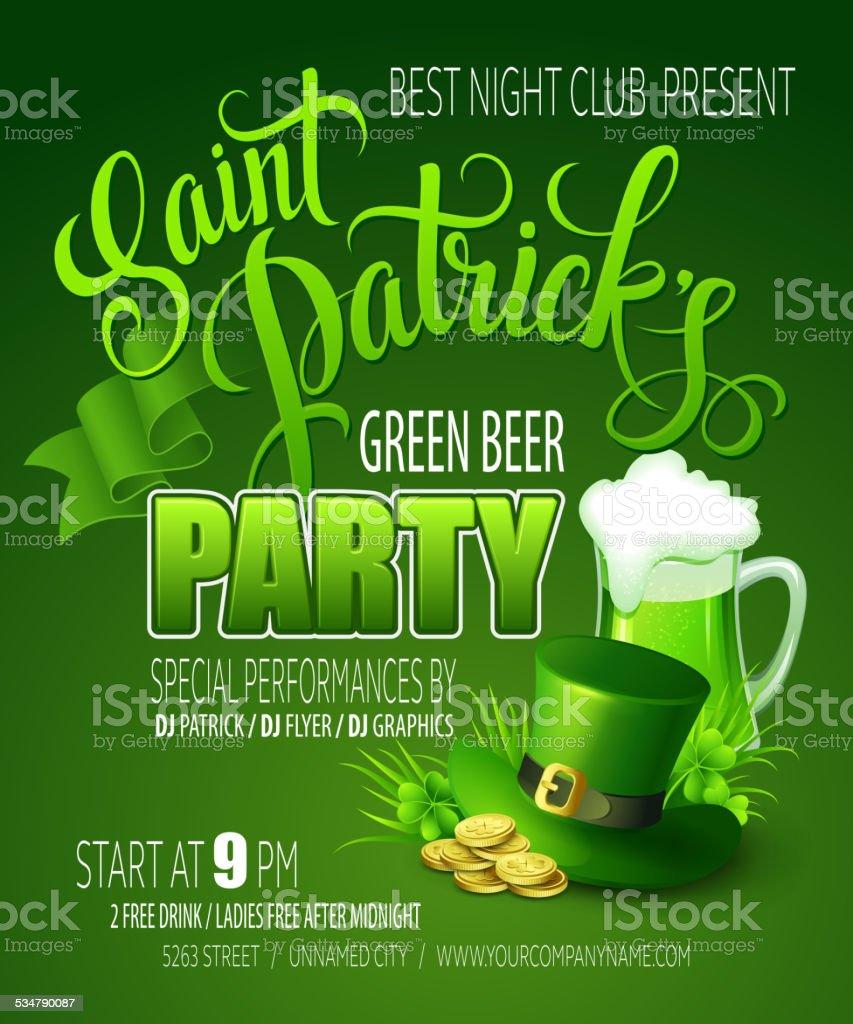 St. Patrick's Day poster. Vector illustration vector art illustration