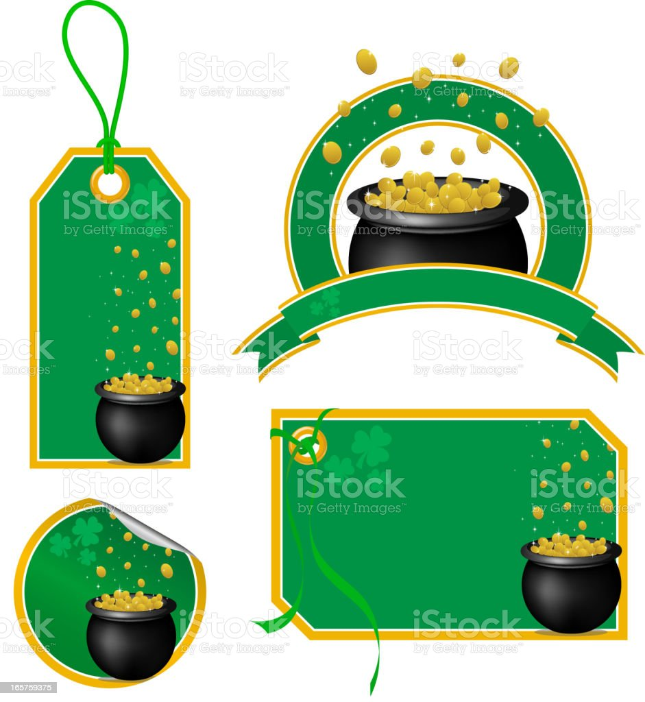St. Patrick's Day Price Tag royalty-free st patricks day price tag stock vector art & more images of badge